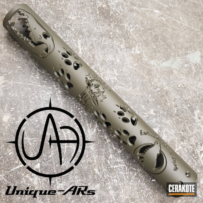 "Thumbnail image for project ""Custom Unique ARs Handguard Cerakoted in H-236 O.D. Green"""