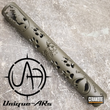 Cerakoted Custom Unique Ars Handguard Cerakoted In H-236 O.d. Green