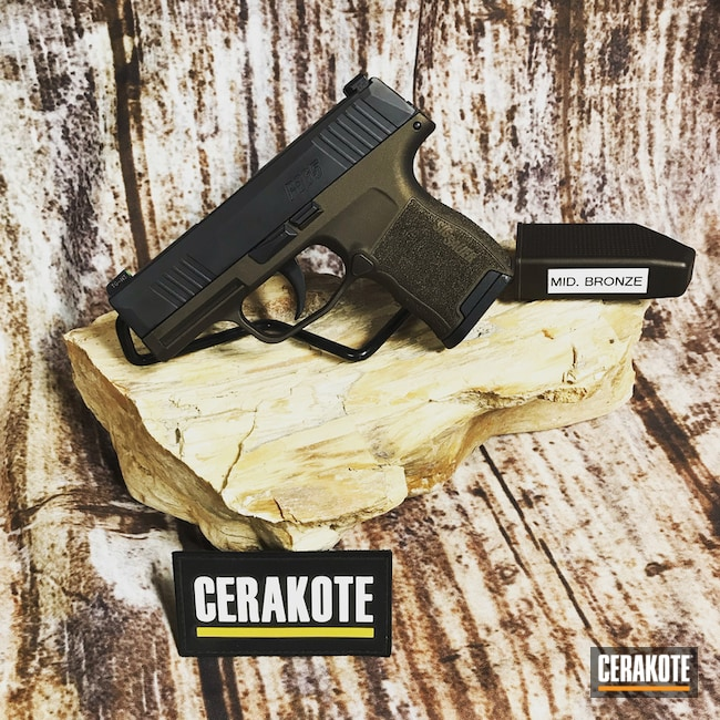"Thumbnail image for project ""Sig Sauer P365 Handgun Cerakoted in H-294"""