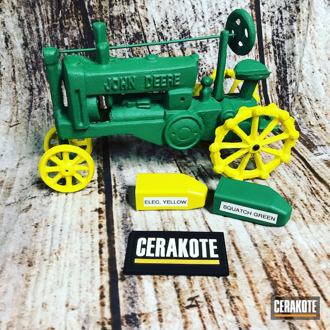 Cerakoted: John Deere,Model Tractor,Electric Yellow H-166,Two Tone,More Than Guns,SQUATCH GREEN H-316,Theme,Miscellaneous