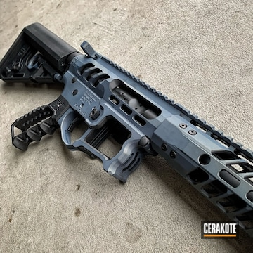 Cerakoted F1 Firearms Rifle Cerakoted With H-315 And E-100