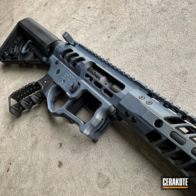 Cerakoted: SHOT,BLACKOUT E-100,Two Tone,F1 Firearms,NORTHERN LIGHTS H-315,Tactical Rifle,Gun Coatings