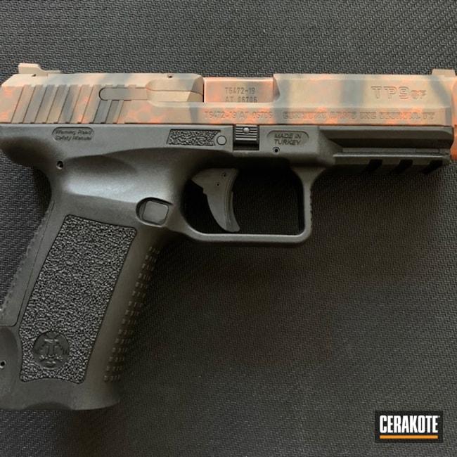 Cerakoted: TEQUILA SUNRISE H-309,SHOT,Canik,Burnt Bronze H-148,Pistol,Gun Coatings,Flat Dark Earth H-265