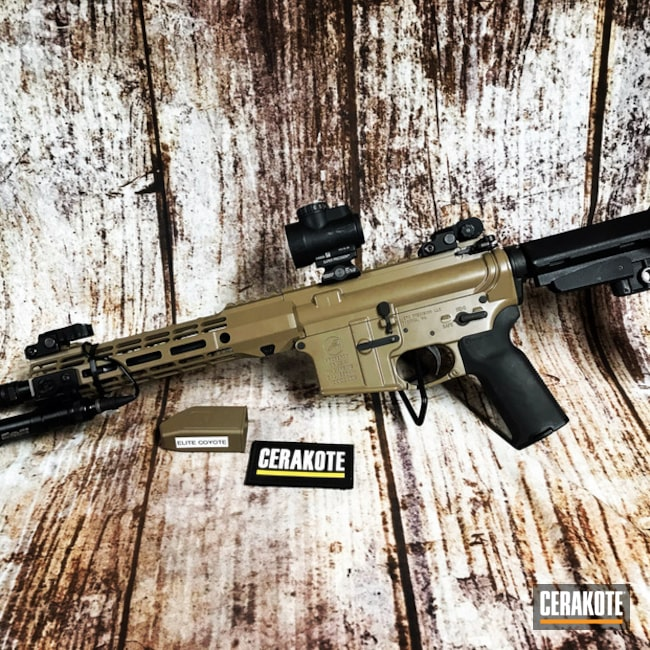 "Thumbnail image for project ""Aero Precision AR-15 Cerakoted with E-170 Coyote M17"""