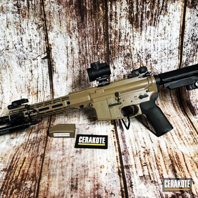 Cerakoted: SHOT,Aero Precision,Cerakote Elite Series,Coyote M17 Tan E-170,Tactical Rifle,Trijicon,Surefire,Gun Coatings,AR-15