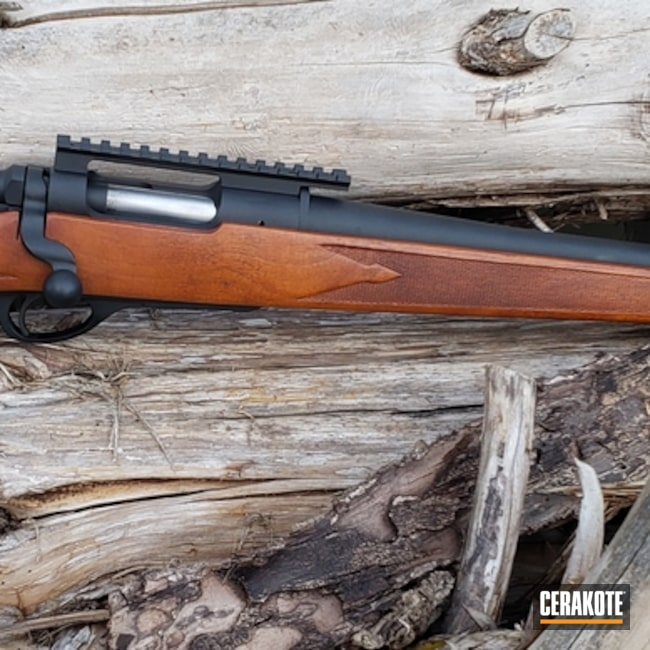 Bolt Action Rifle Cerakoted in H-146 Graphite Black