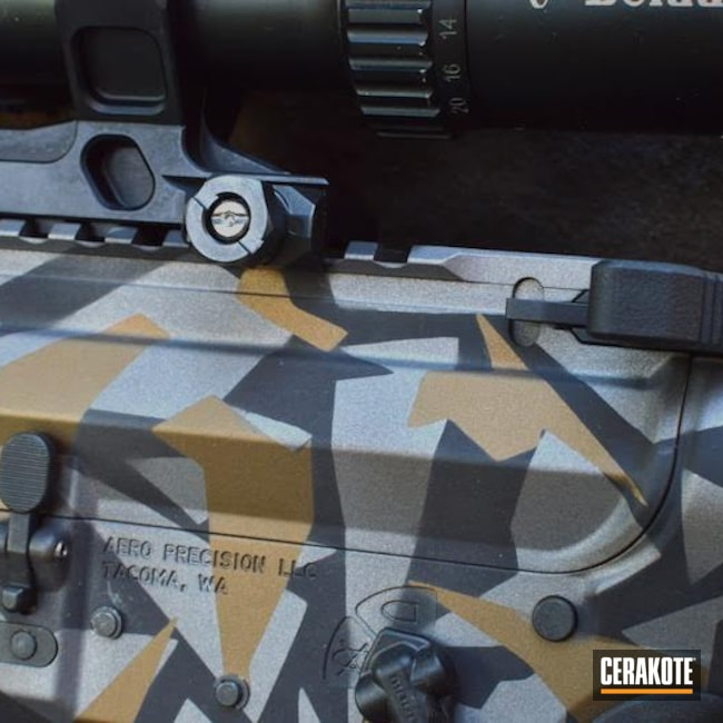 "Thumbnail image for project ""Aero Precision Rifle with a Custom Cerakote Splinter Camo Finish"""