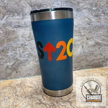 Cerakoted Stand Up To Cancer Themed Tumbler Cup