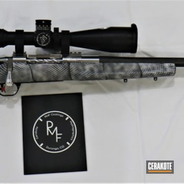 Cerakoted Custom Bolt Action Rifle With Cerakote H-146, H-151 And H-234