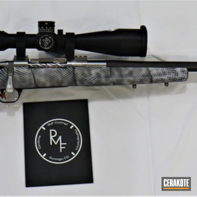 Cerakoted: Bolt Action Rifle,Sniper Grey H-234,Custom Rifle,Polished Steel,Sniper Rifle,Precision,Graphite Black H-146,Satin Aluminum H-151,Gun Coatings,Nightforce