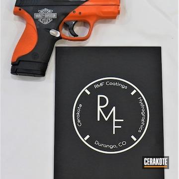 Cerakoted Harley Davidson Themed Smith & Wesson Handgun