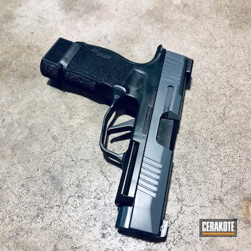 Cerakoted Sig P365xl Cerakoted With H-237 And Hir-146