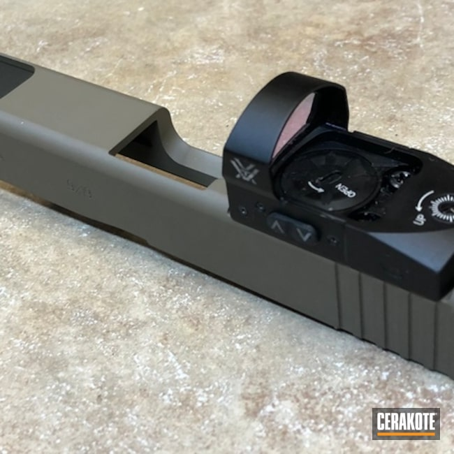 Cerakoted: Glock 34,Glock MOS,Solid Tone,Glock,Flat Dark Earth H-265,Slide