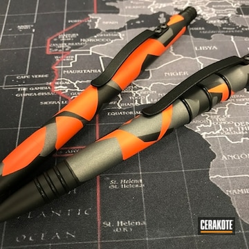 Cerakoted Tuff Writer Pens With Custom Cerakote Splinter Camo