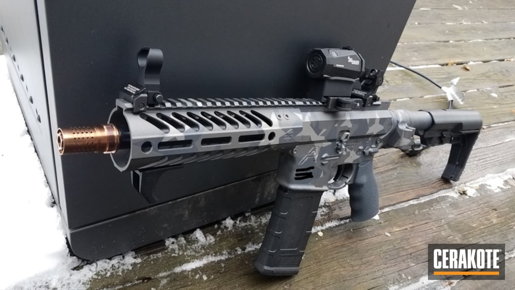 SBR AR-15 Rifle with Cerakote Urban Splinter Star Camo by Joseph ...