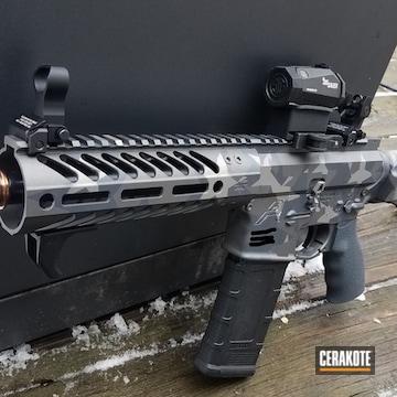Cerakoted Sbr Ar-15 Rifle With Cerakote Urban Splinter Star Camo
