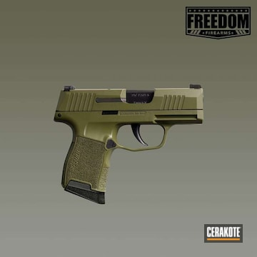 Cerakoted Sig Sauer P365 Handgun Cerakoted With H-189