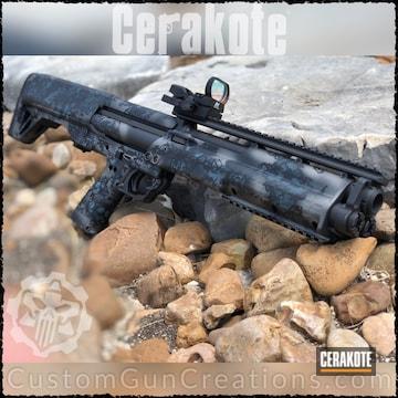 Cerakoted Kel-tec Ksg 12 Gauge Shotgun With A Custom Cerakote Camo Finish