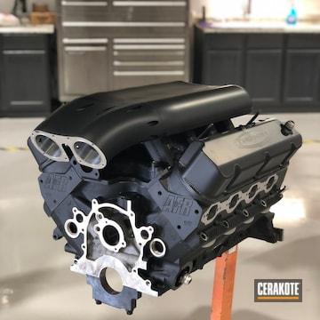 Cerakoted Nelson Racing Engine Cerakoted With C-7600 Glacier Black
