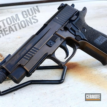 Cerakoted Sig Sauer P226 Handgun Cerakoted With H-146 And H-148