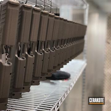 Cerakoted Production Run Of Pistol Slides Cerakoted In H-294 Midnight Bronze