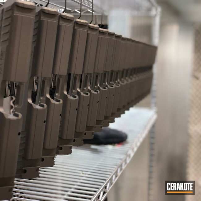 Cerakoted Production Run Of Pistol Slides Cerakoted In H-294 Midnight Bronze