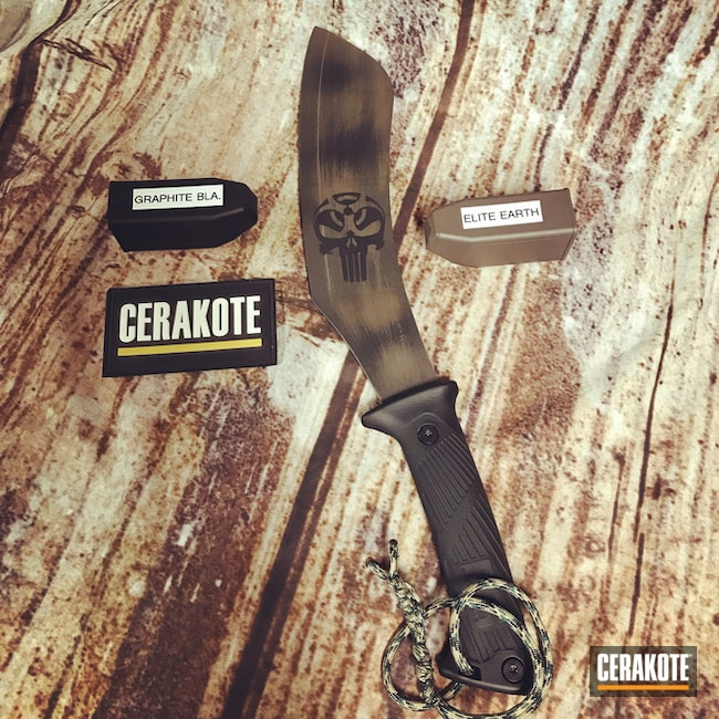 Gerber Knife Cerakoted with H-146 and E-130