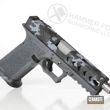 Cerakoted Ploymer80 Glock 17 Handgun With A Cerakote Urban Multicam Finish