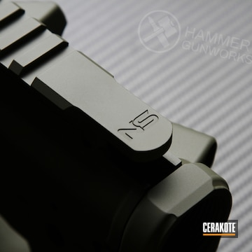 Cerakoted Stoner Rifle Upper / Lower / Handguard Cerakoted In H-240