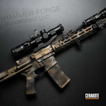 Cerakoted Custom Cerakote Kryptek Finish On This Ar-15