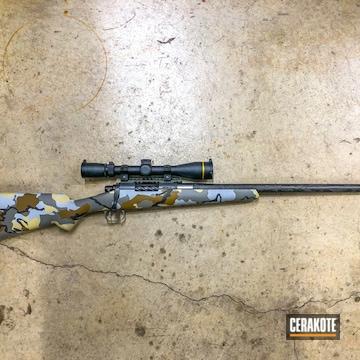 Cerakoted Bolt Action Hunting Rifle With A Custom Cerakote Kuiu Camo Finish