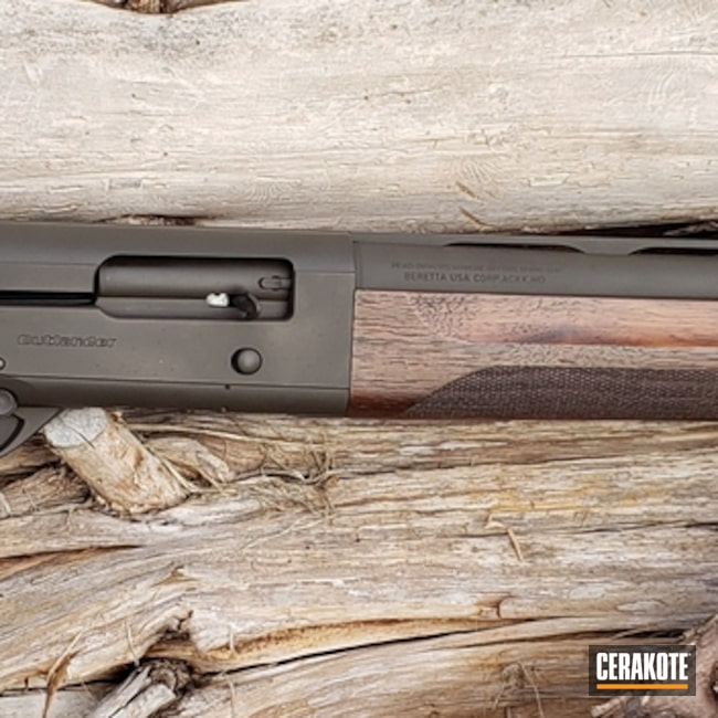 "Thumbnail image for project ""Beretta Shotgun Cerakoted in H-298 Plum Brown"""