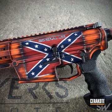 Cerakoted General Lee Themed Cerakote Rifle Finish