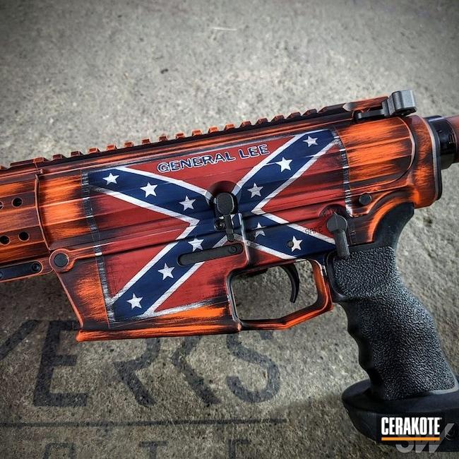 Cerakoted: S.H.O.T,Battleworn,Snow White H-136,Confederate Flag,Graphite Black H-146,Distressed,Tactical Rifle,KEL-TEC® NAVY BLUE H-127,Gun Coatings,Theme,Hunter Orange H-128,General Lee