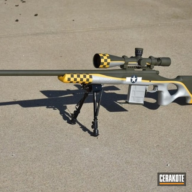Fighter Plane Themed Remington Bolt Action Rifle