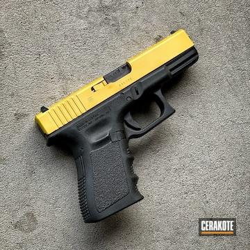 Cerakoted Glock Slide Cerakoted With H-317 Sunflower