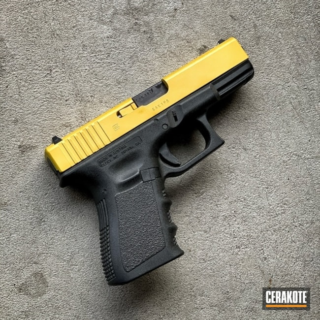 Cerakoted Glock Slide Cerakoted With H-317 Sunflower