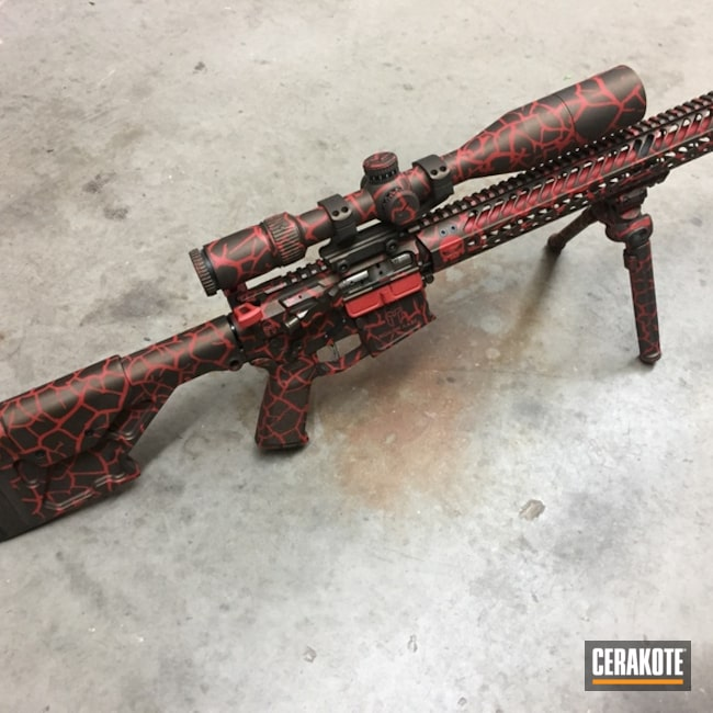 AR_15 Rifle with a H-216 and H-294 Fractal Camo Finish
