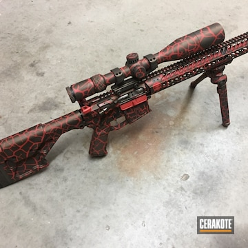 Cerakoted Ar_15 Rifle With A H-216 And H-294 Fractal Camo Finish