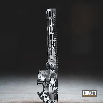 Cerakoted Cerakote Winter Multicam On This Upper / Lower / Handguard Combo