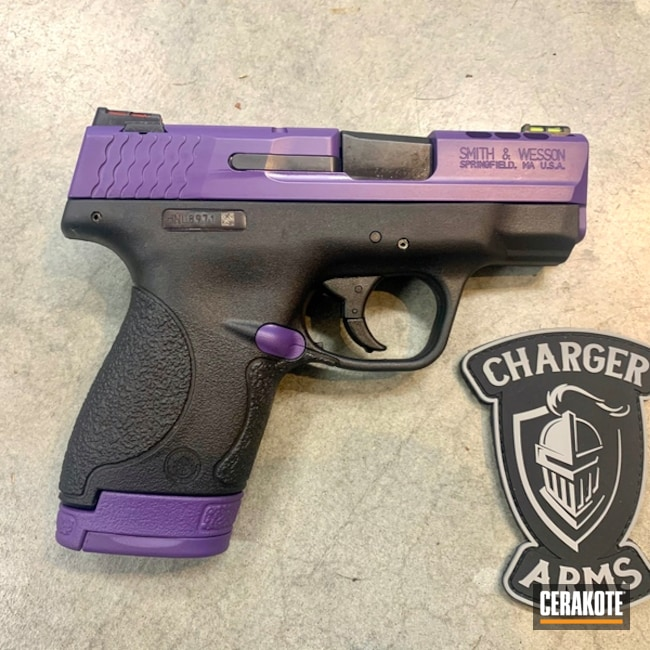 Smith & Wesson Handgun Cerakoted with H-217 Bright Purple