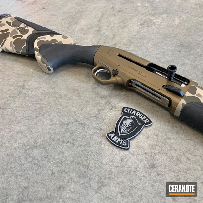 Beretta Duck Hunting Shotgun with a Old School Cerakote Camo Finish