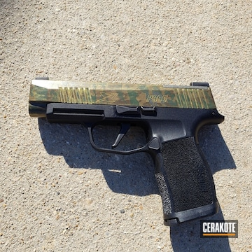 Cerakoted Sig Sauer P365xl With A Custom Cerakote Multicam And Guncandy Finish