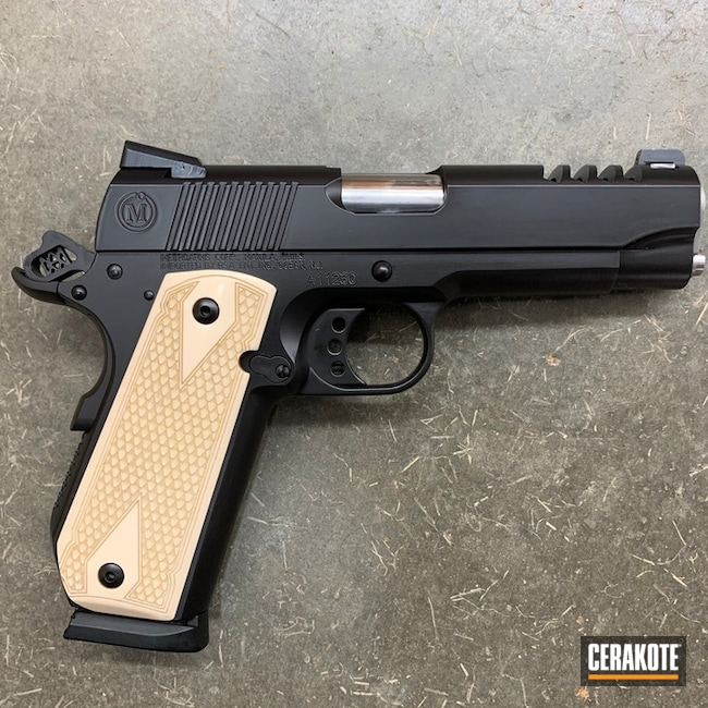 1911 Handgun with Cerakote H-146 Graphite Black