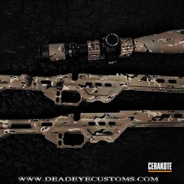 Cerakoted Mpa Chassis And Matching Scope With A Custom Cerakote Multicam Finish