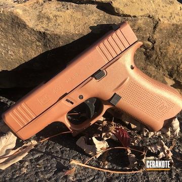 Cerakoted Glock 43x With A Custom Mixed H-310 And H-255 Cerakote Finish