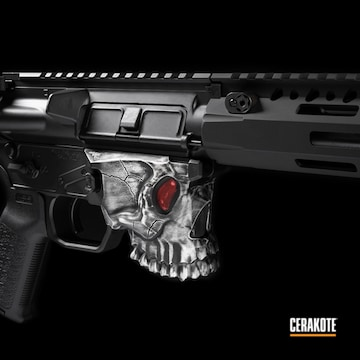 Cerakoted Custom Ar Build Featuring The Jack Skull Lower And Cerakote Detail Finish
