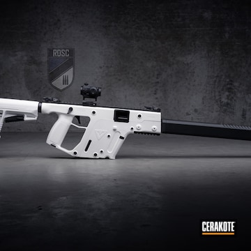 Cerakoted Kriss Vector Cerakoted With H-136 Snow White