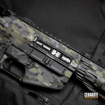 Cerakoted Rainier Arms Rifle With A Cerakote Multicam Black Finish