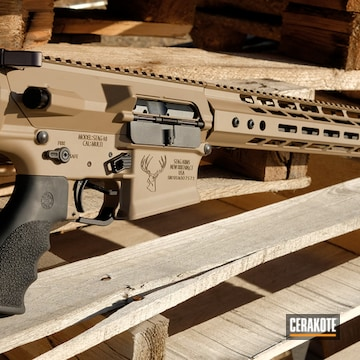 Cerakoted Stag Arms Rifle Cerakoted With H-267 Magpul Flat Dark Earth